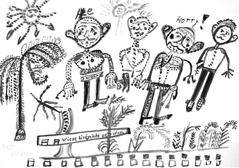 Inge Netzer, ohne Titel, Tempera auf Zeichenkarton, 30 x 40 cm, 2011
